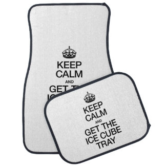 KEEP CALM AND GET THE ICE CUBE TRAY CAR MAT
