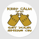 Keep Calm And Get Your Shine On Classic Round Sticker
