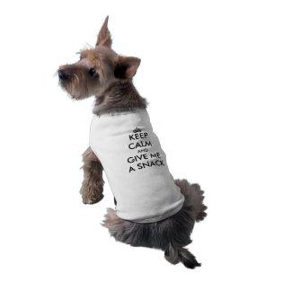 Keep Calm And Give Me A Snack Bone Template Dog Tshirt