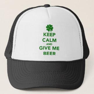 Keep calm and give me beer St. Patricks day Trucker Hat