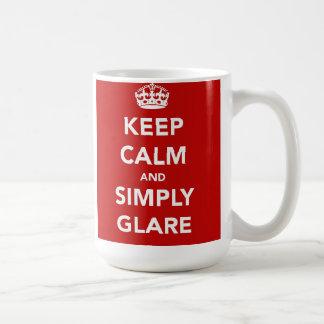 Keep Calm and Glare Mug
