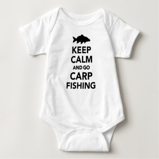 Keep calm and go carp fishing baby bodysuit