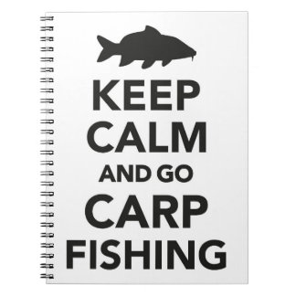 """Keep calm and go carp fishing"" notebook"