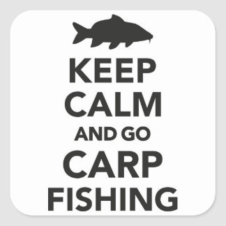 """keep calm and go carp fishing"" sticker"