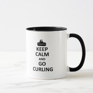 Keep calm and go Curling Mug