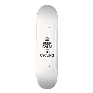 KEEP CALM AND GO CYCLING SKATE BOARD DECKS