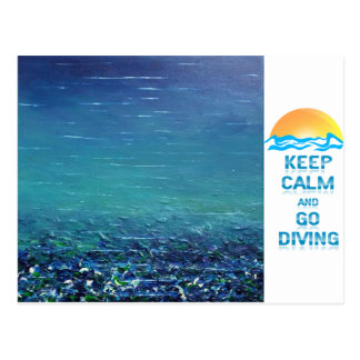 "Keep Calm and Go Diving - Postcard ""Code"""
