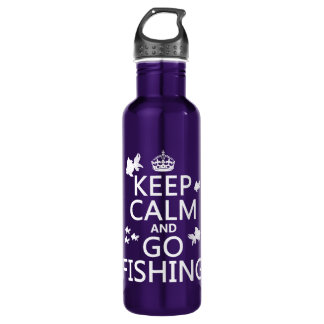 Keep Calm and Go Fishing 710 Ml Water Bottle