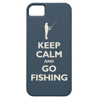 Keep Calm and Go Fishing (navy) iPhone 5 Cover