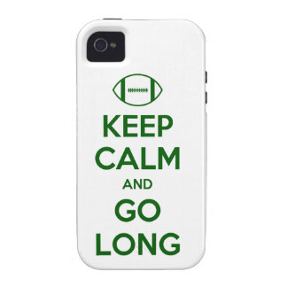 KEEP CALM AND GO LONG - football/sports/nfl iPhone 4 Covers
