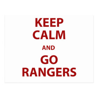 Keep Calm and Go Rangers Postcard