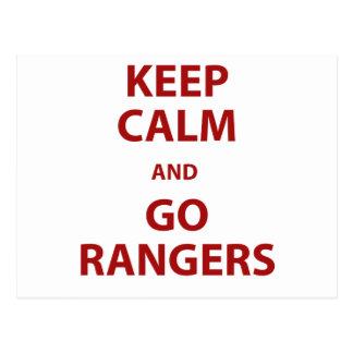 Keep Calm and Go Rangers Postcard