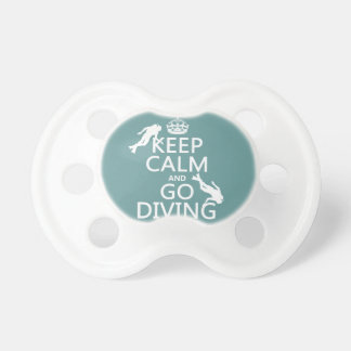 Keep Calm and Go (scuba) Diving (all colors) Pacifier