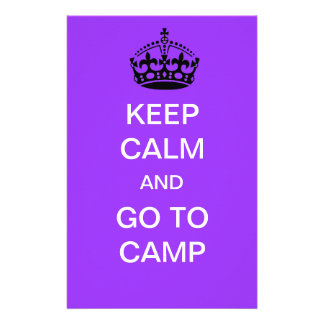 keep calm and go to camp stationery paper