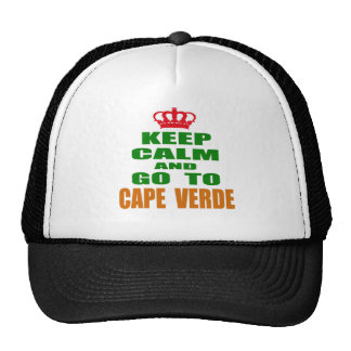 Keep calm and go to Cape Verde. Trucker Hat