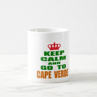 Keep calm and go to Cape Verde. Coffee Mug