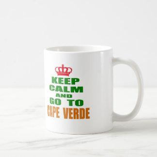 Keep calm and go to Cape Verde. Coffee Mugs