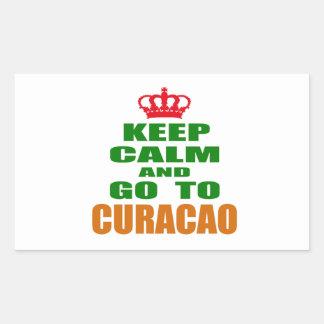 Keep calm and go to Curacao. Sticker
