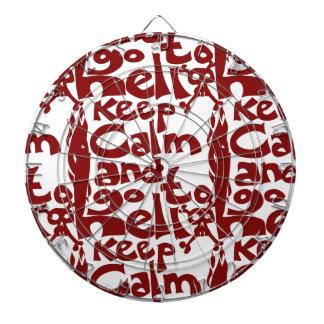 keep calm and go to hell dartboard