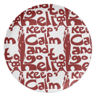keep calm and go to hell dinner plate