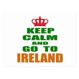 Keep calm and go to Ireland. Postcard