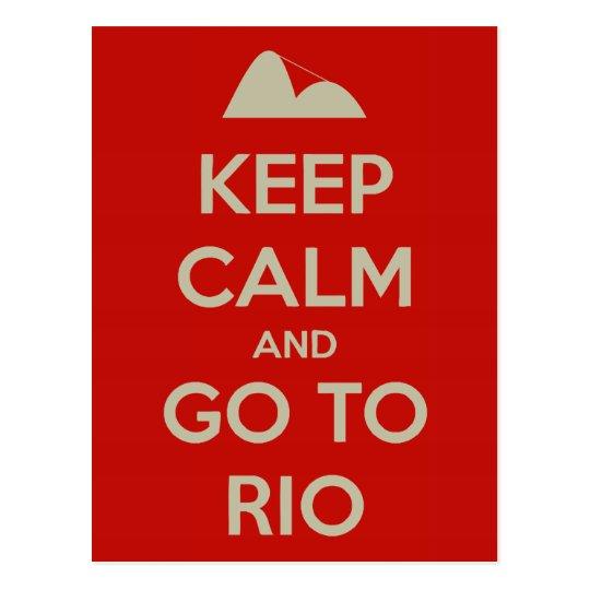 Keep Calm and go to Rio Postcard