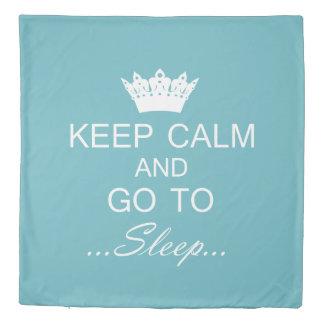 """""""KEEP CALM AND GO TO SLEEP"""" DUVET COVER"""