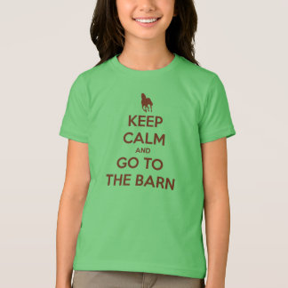 Keep Calm and Go to the Barn Horse Lovers T-Shirt