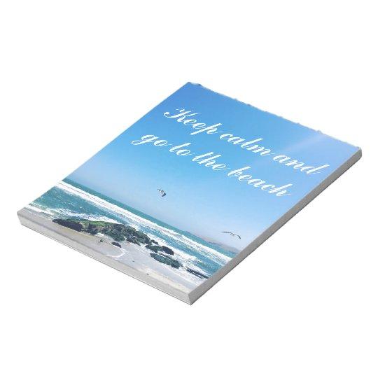 Keep calm and go to the beach Custom Notepad