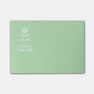 Keep Calm and Go to the Spa Post-it Notes