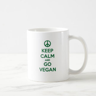 Keep Calm and GO VEGAN Coffee Mug