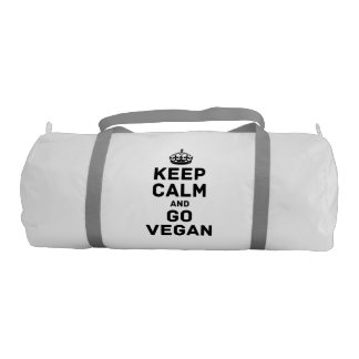 Keep calm and go vegan gym bag