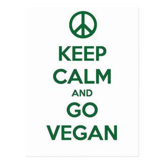 Keep Calm and GO VEGAN Postcard