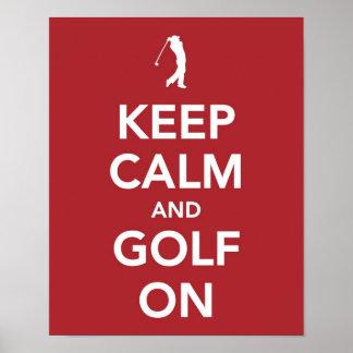 Keep Calm and Golf On print