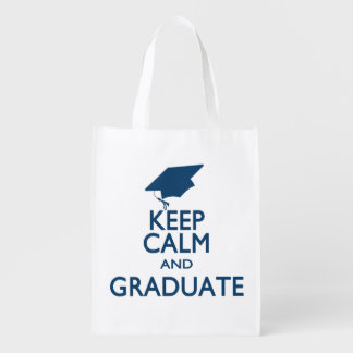 Keep Calm and Graduate Reusable Grocery Bag