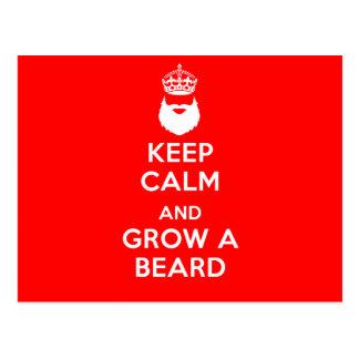 Keep Calm and Grow A Beard Postcard