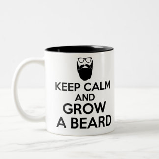 keep calm and grow a beard Two-Tone coffee mug