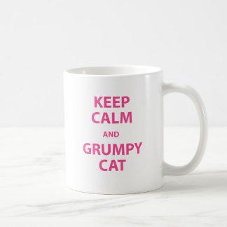 Keep Calm and Grumpy Cat Coffee Mugs