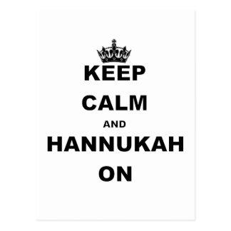KEEP CALM AND HANNUKAH ON POSTCARDS
