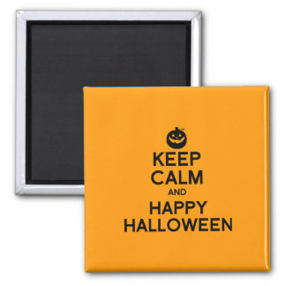 KEEP CALM AND HAPPY HALLOWEEN -.png Fridge Magnet