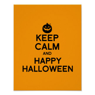 KEEP CALM AND HAPPY HALLOWEEN - png Posters
