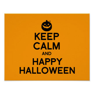 KEEP CALM AND HAPPY HALLOWEEN - png Poster