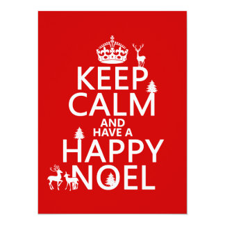 Keep Calm and Have A Happy Noel (christmas) Custom Announcement