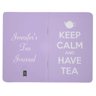 Keep Calm and Have Tea Lavender Personalized Journals