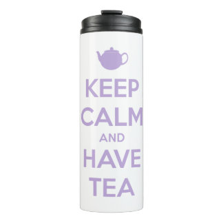 Keep Calm and Have Tea Lavender Personalized Thermal Tumbler