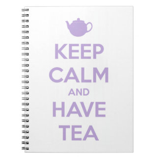 Keep Calm and Have Tea Lavender/White Notebook