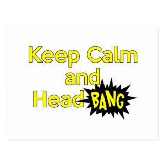 Keep Calm and Head Bang Postcard