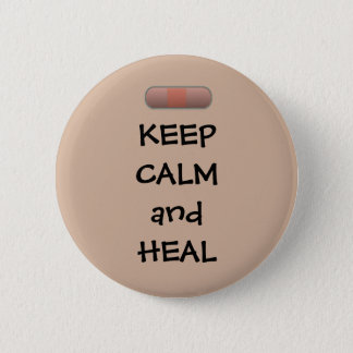 Keep Calm and Heal 2 Inch Round Button