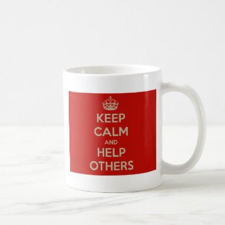 Keep Calm and Help Others Coffee Mug