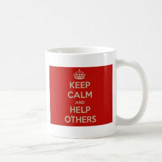 Keep Calm and Help Others Coffee Mug